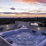 The Jacuzzi in front of the sunset